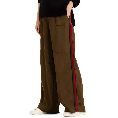 Amanda Wakeley Khaki Luxe Sport Trouser