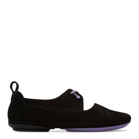 Camper Black Right Lace Up Moccasin Shoe