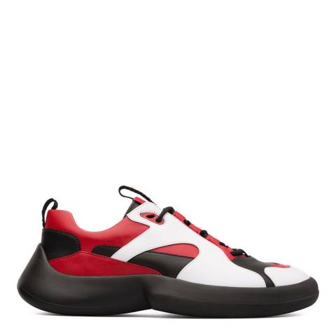 Camper White/Red/Black ABS Sneaker Bootie