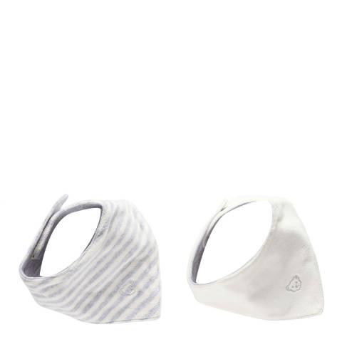 Steiff Set Of 2 Soft Grey Melange Neckerchief