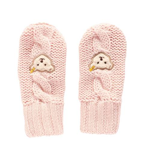 Steiff Barely Pink Baby Mittens