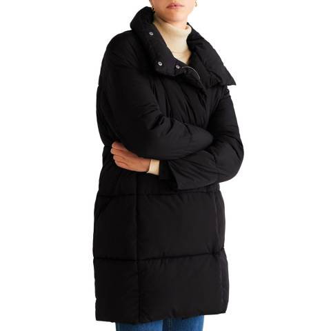 Mango Black Oversize Quilted Down Anorak