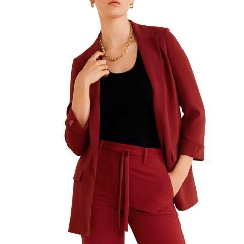 Mango Vermillion Structured Suit Blazer