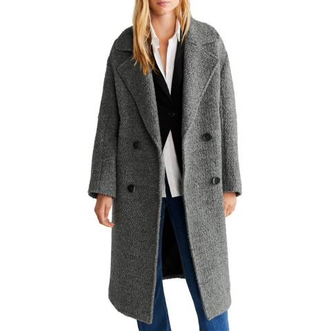 Mango Grey Fur Boucl