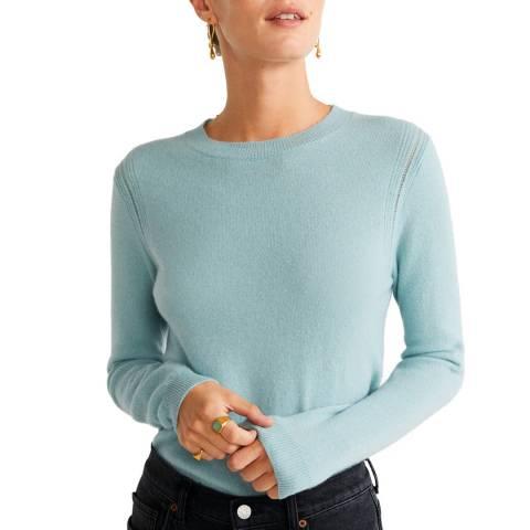 Mango Aqua Green Cashmere Knit