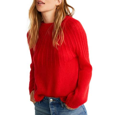 Mango Red Textured Knit