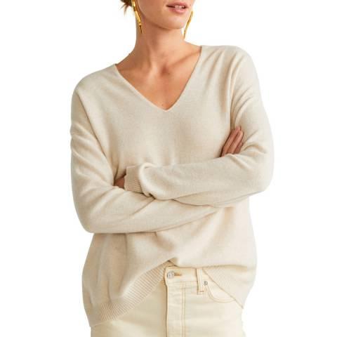 Mango Light/Pastel Grey Cashmere Knit