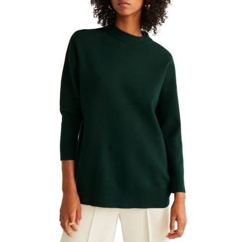 Mango Dark Green Oversize Knit