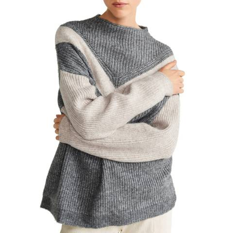 Mango Grey Bicolour Knit