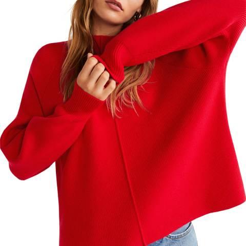 Mango Red Ribbed Knit