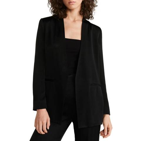 Mango Black Unstructured Suit Blazer