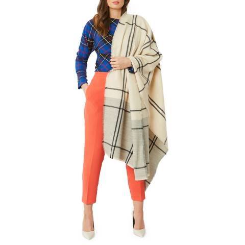 JayLey Collection Beige Cashmere Blend Wrap