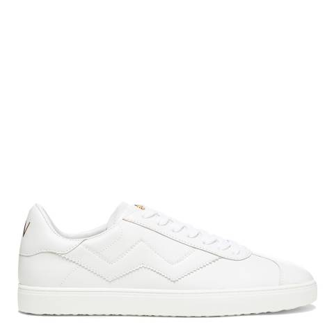 Stuart Weitzman White Snow Daryl Leather Sneakers