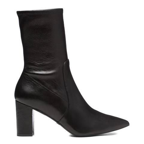 Stuart Weitzman Black Nappa Landry 75 Ankle Boots