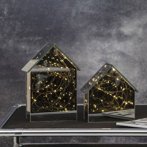 Christmas Magic LED Mirror House