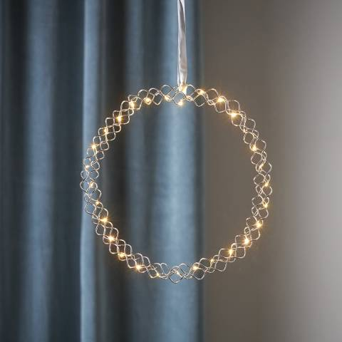 Christmas Magic Hanging Wreath Hoop LED