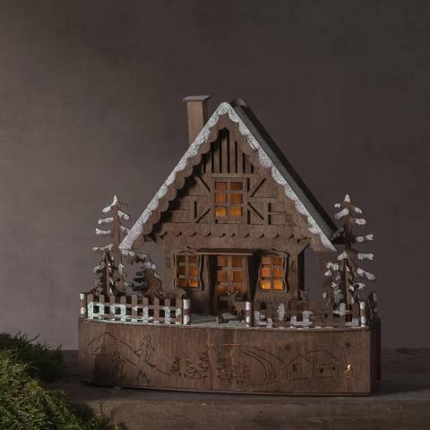 Christmas Magic Brown House Ornament