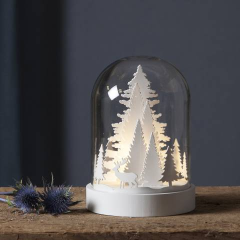 Christmas Magic White Dome Table Decoration