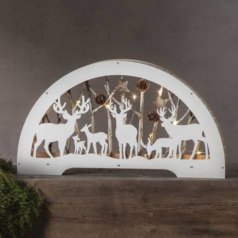 Christmas Magic Cresent Shaped Fauna Table Decoration