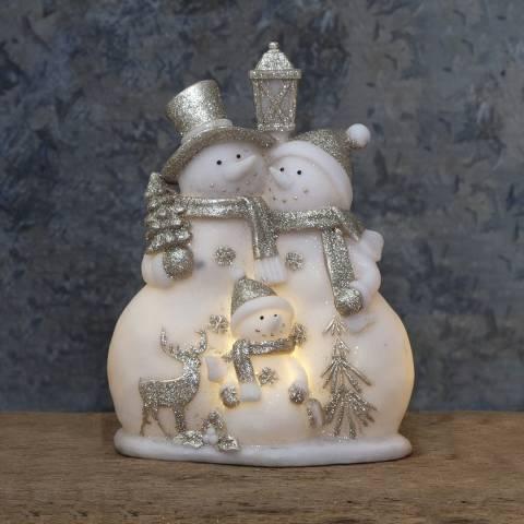 Christmas Magic Hugging Snowmen Figurine Buddy