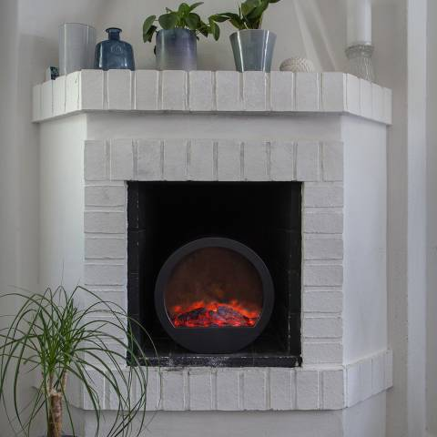 Christmas Magic Lantern Fireplace