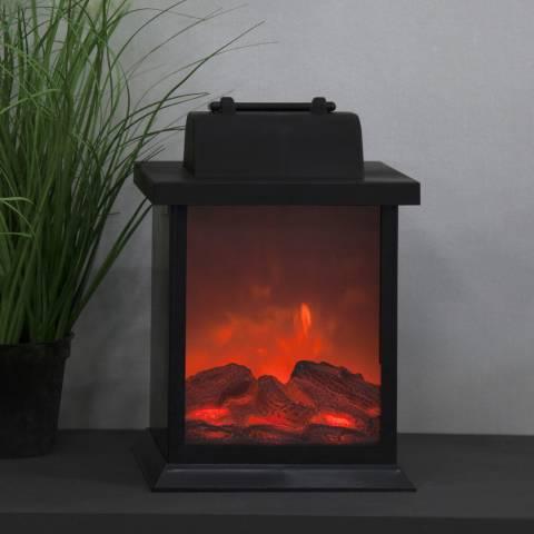 Christmas Magic Fireplace Lantern