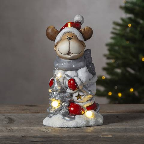 Christmas Magic Reindeer Figurine Friends 24cm