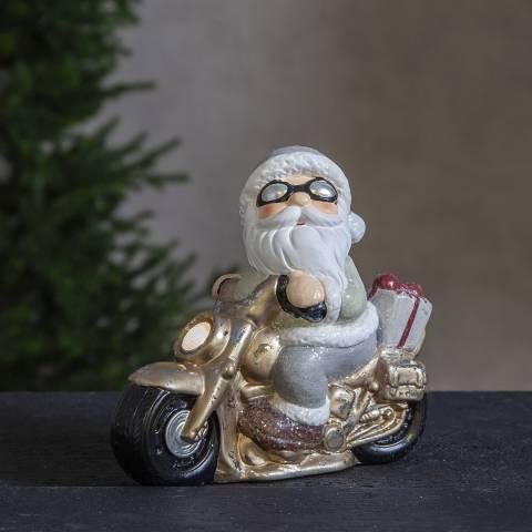 Christmas Magic Santa Motorcycle Figurine Friends 22.5cm
