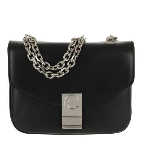Celine Black Small C Leather Shoulder Bag