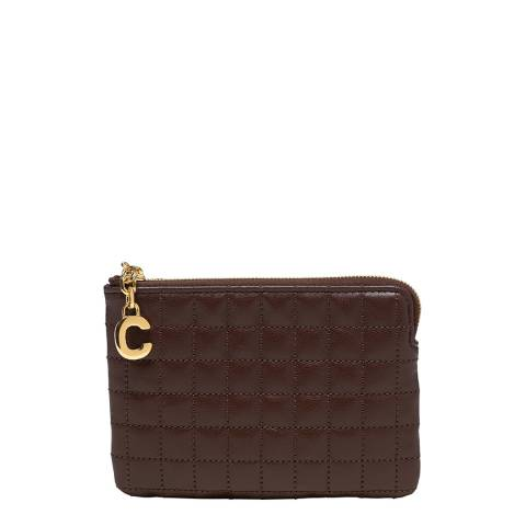 Celine Brown C Charm Coin and Card Pouch