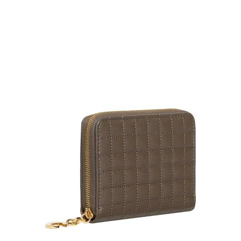 Celine Khaki C Charm Leather Purse
