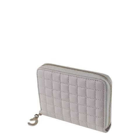 Celine Grey C Charm Leather Purse