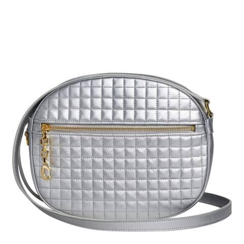 Celine Silver Medium C Charm Leather Crossbody Bag