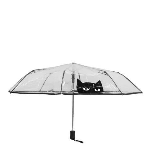 Susino Transparent / Black Cat Folding Umbrella