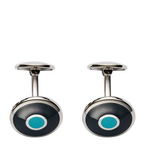 Thomas Pink Blue Sky Stainless Steel Enamel Target Cufflinks