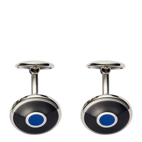 Thomas Pink Navy Royal Stainless Steel Enamel Target Cufflinks