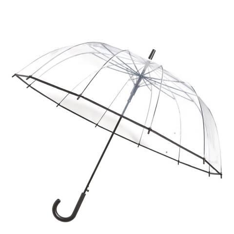 Smati Transparent / Black Border Birdcage Umbrella