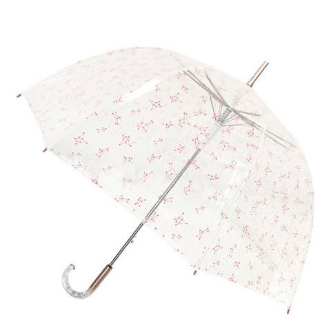 Smati Transparent / Pink Constellation Birdcage Umbrella