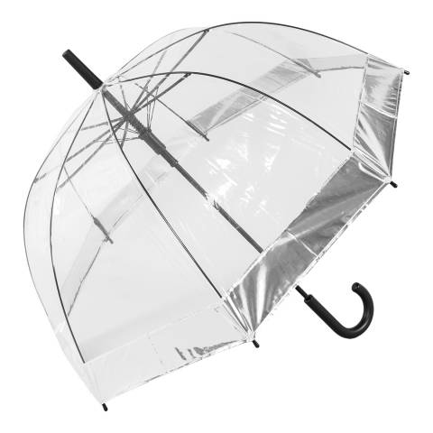 Susino Transparent / Silver Border Birdcage Umbrella