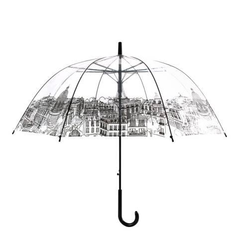 Le Monde du Parapluie Transparent / Black Paris Birdcage Umbrella