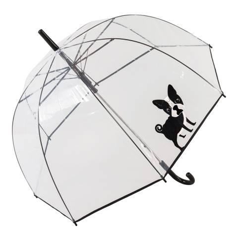 Susino Transparent / Black Dog Birdcage Umbrella