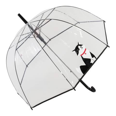 Susino Transparent / Black Cat Birdcage Umbrella