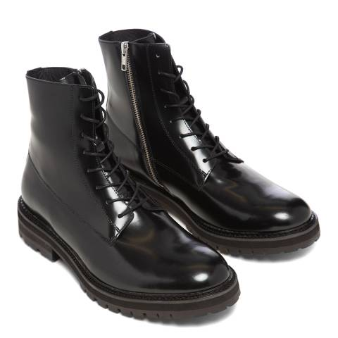 Oliver Sweeney Black High Shine Romeo Leather Boot