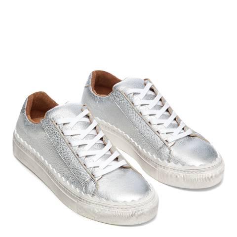 Oliver Sweeney Silver Ziva Scallop Sneakers
