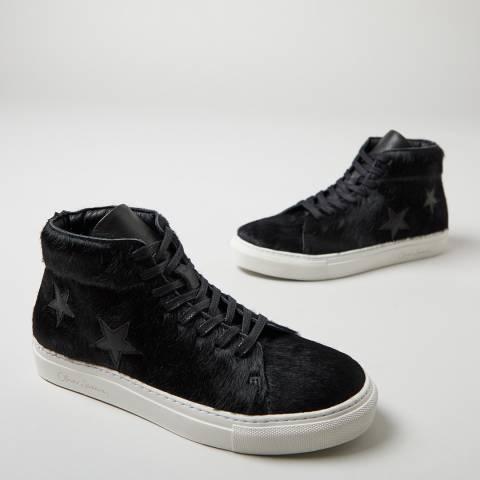 Oliver Sweeney Black Slade High Top Star Sneakers