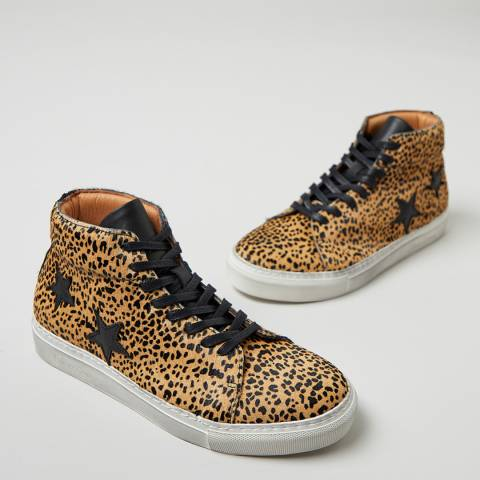 Oliver Sweeney Leopard Slade High Top Star Sneakers