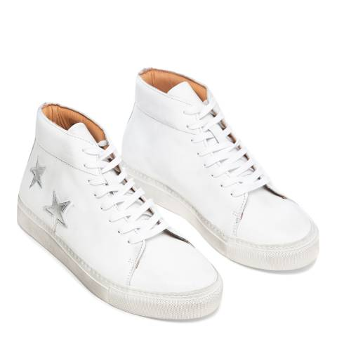 Oliver Sweeney White Leather Slade High Top Star Sneakers