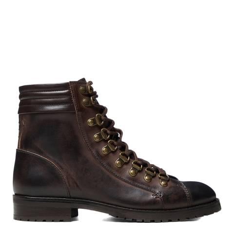 Oliver Sweeney Dark Brown Alvarenga Hiker Ankle Boot