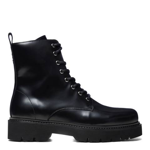 Oliver Sweeney Black High Shine Tansy Ankle Boots