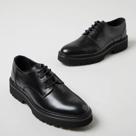 Oliver Sweeney Black Florian High Shine Derby Shoes